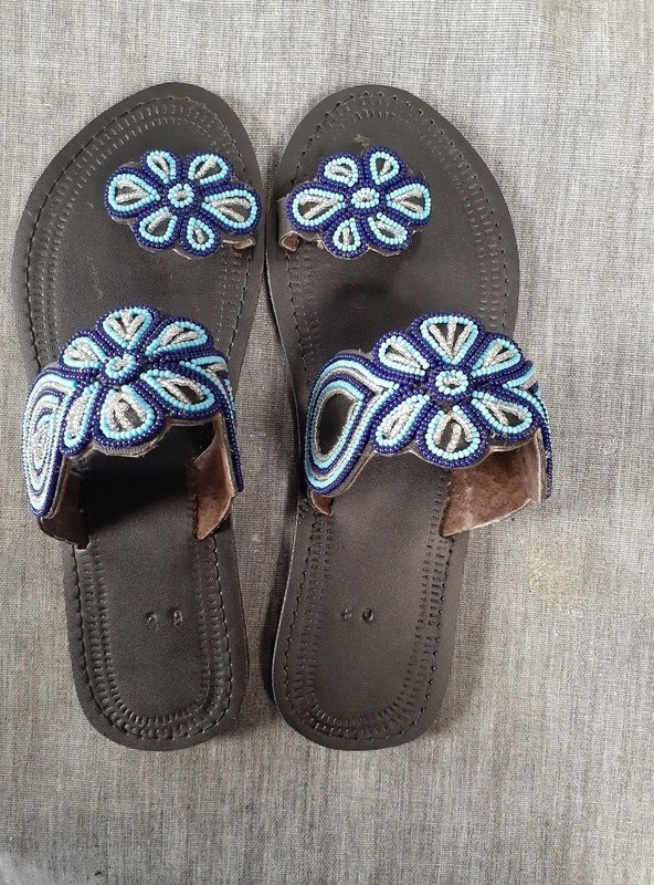 7ea66b80fd855 Masai handmade sandals/African sandals/handmade sandals/leather  sandals/flat sandals. - Sandals, flip flops multicolour, maternity, plus  size and ...