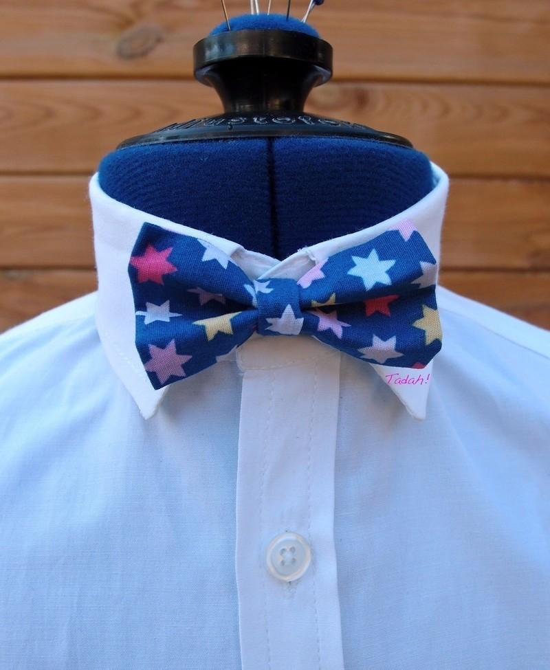 Noeud papillon pour enfant, bleu à étoiles colorées par dingadiling ... c8ece09250d