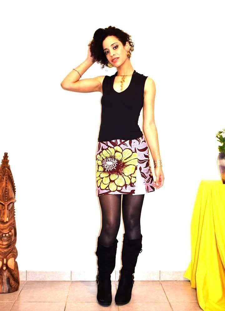 Afrikrea By Par Trapèze Jupes Courtes Mini Jupe Odeal Et CoxredB