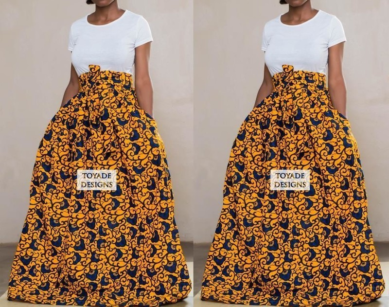 81fb0291eee Ankara skirt, African print skirt by toyadedesigns - Long skirts ...