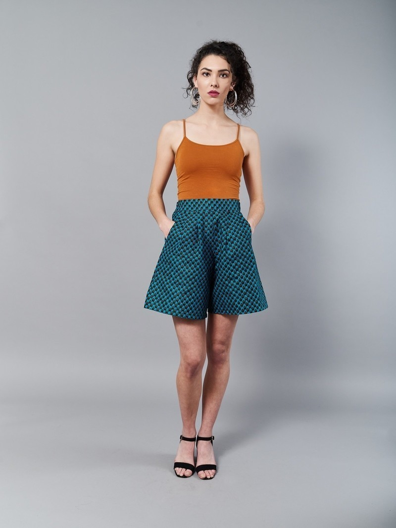 85b096a691575a Protea shorts and blouse - Kitenge outfit with ruffle collar by ...