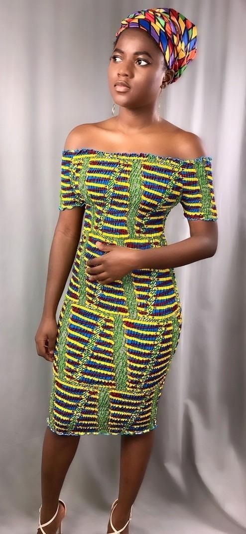 Robe élastique Ankara par origin-trends - Robes longues - Afrikrea 2414649193d
