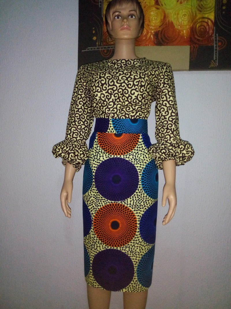 d49bd79f37 Timi African Mixed Print Pencil Skirt & Top Set by glamzbyama ...