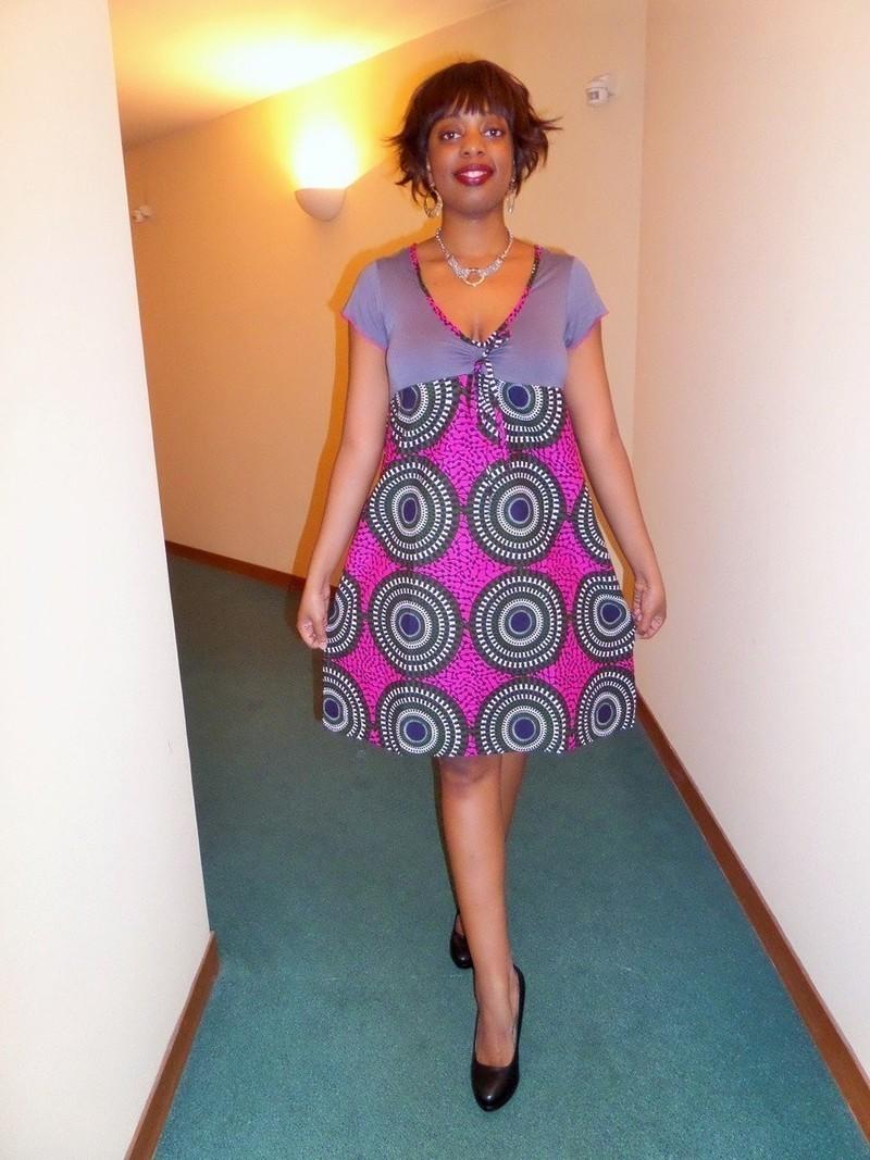 robe 2 tons en wax pagne africain par pagnshopea robes courtes afrikrea. Black Bedroom Furniture Sets. Home Design Ideas