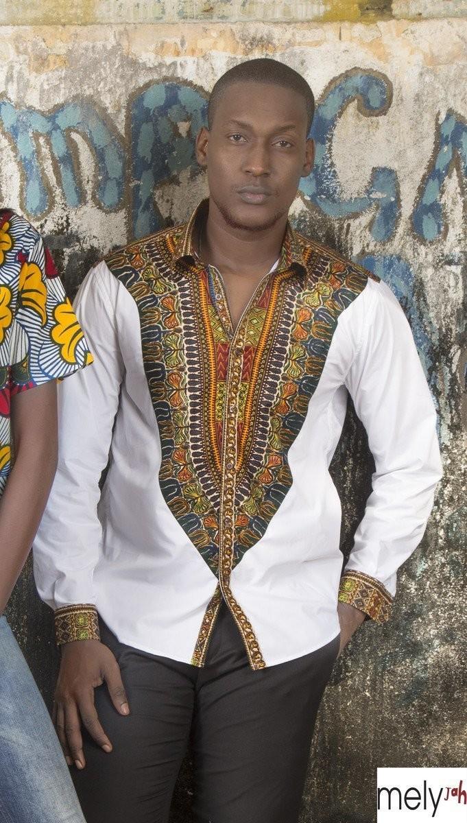 a31794a2640 Chemise plastron Vlisco Angelina par melyjah - Chemises manches longues -  Afrikrea