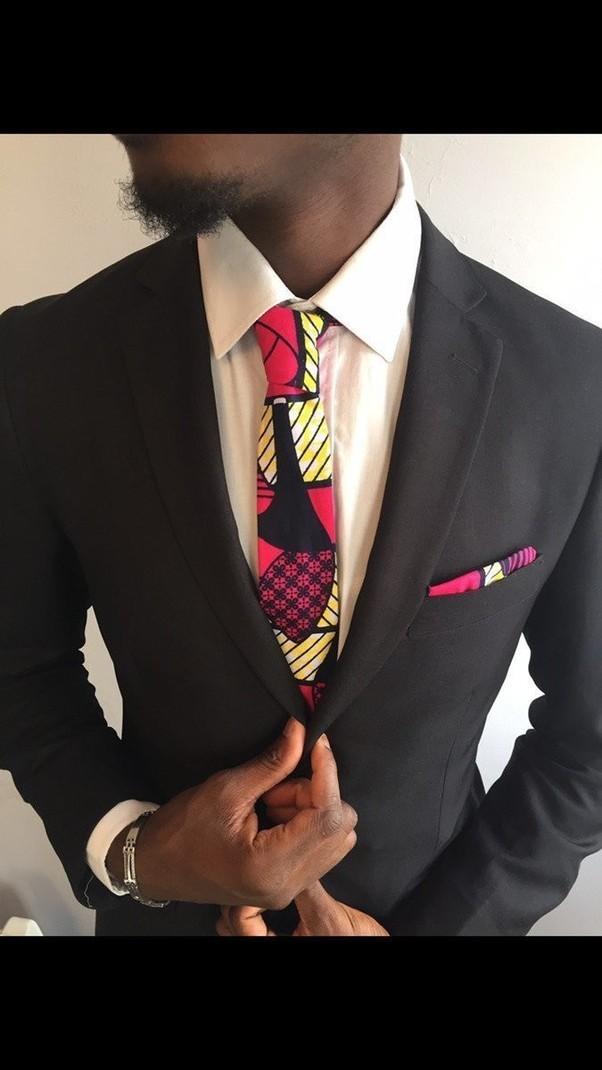 e0b83e2b1710d Cravate homme Wax Fuchsia par kasolya - Cravates - Afrikrea