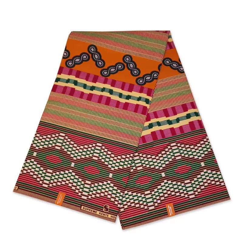 African KENTE Print //African Print Fabric;  MULTI-COLOR 6 Yards