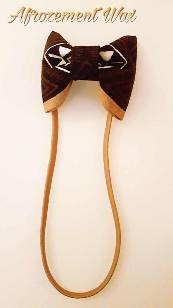 Headband   Élastique à cheveux   Noeud Papillon par afrozement-wax ... 4df528b2b4a