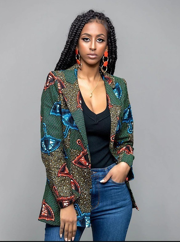 Femme 2 Batik Vêtement Dashiki Ankara Style Wax Veste EZdwZR