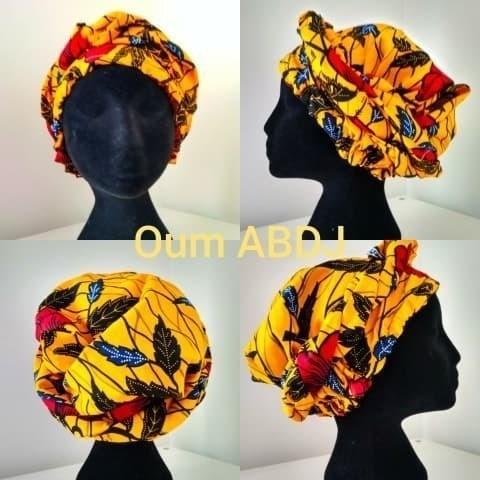 Satin   wax ready-to-wear scarf by oumabdj-wax - Headwraps - Afrikrea 62da8a838637