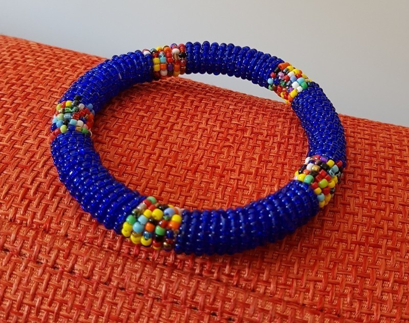 Blue beads bracelet Kenya , Pearl bracelets blue, maasaï, for her, pearls,