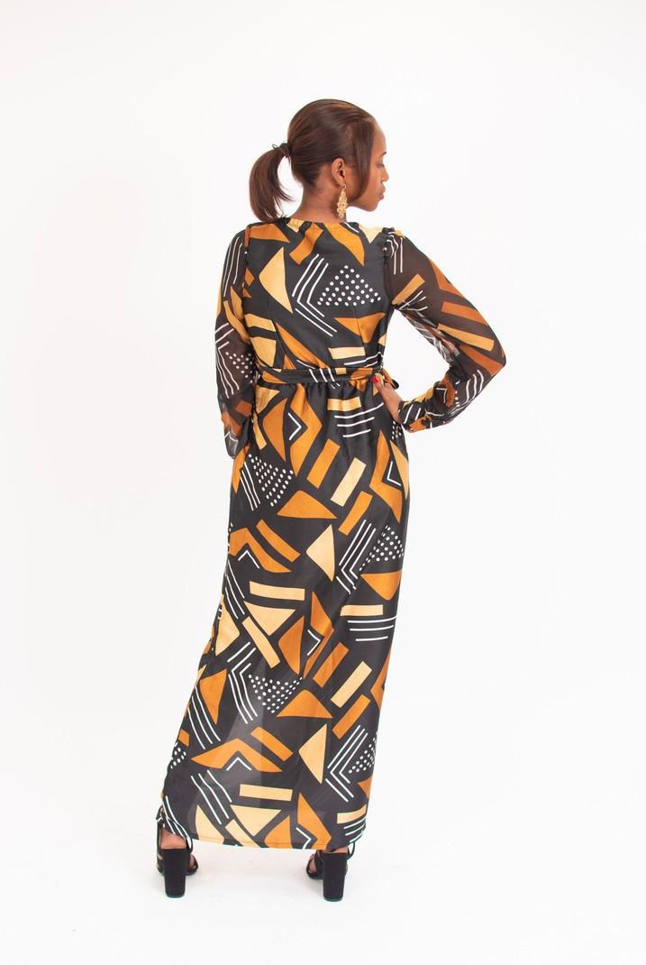 410681b47eb1b Long dress in wax by ade-wear - Long dresses - Afrikrea