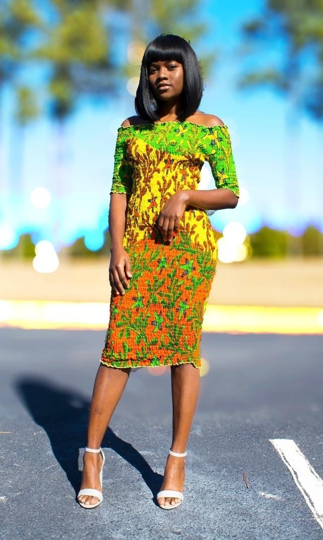ROBE ANKARA ÉLASTIQUE (MANCHES LONGUES) par origin-trends - Robes ... de7e8324c15
