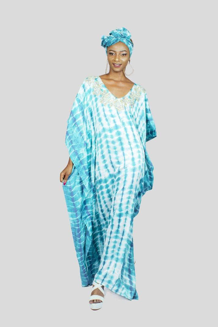 Caftan en mousseline de soie d inspiration africaine par wandizi ... 34f8be94b84
