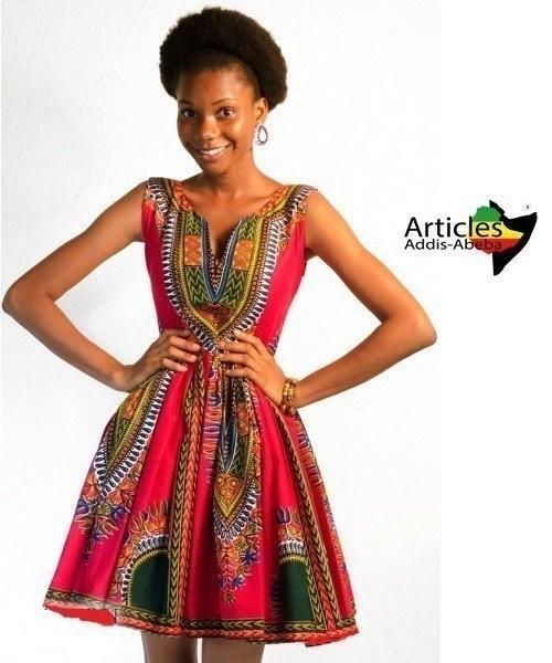 Robe Evasée Addis-Abeba Decoltée par articles-addis-abeba - Robes ... 02417f0f93d8
