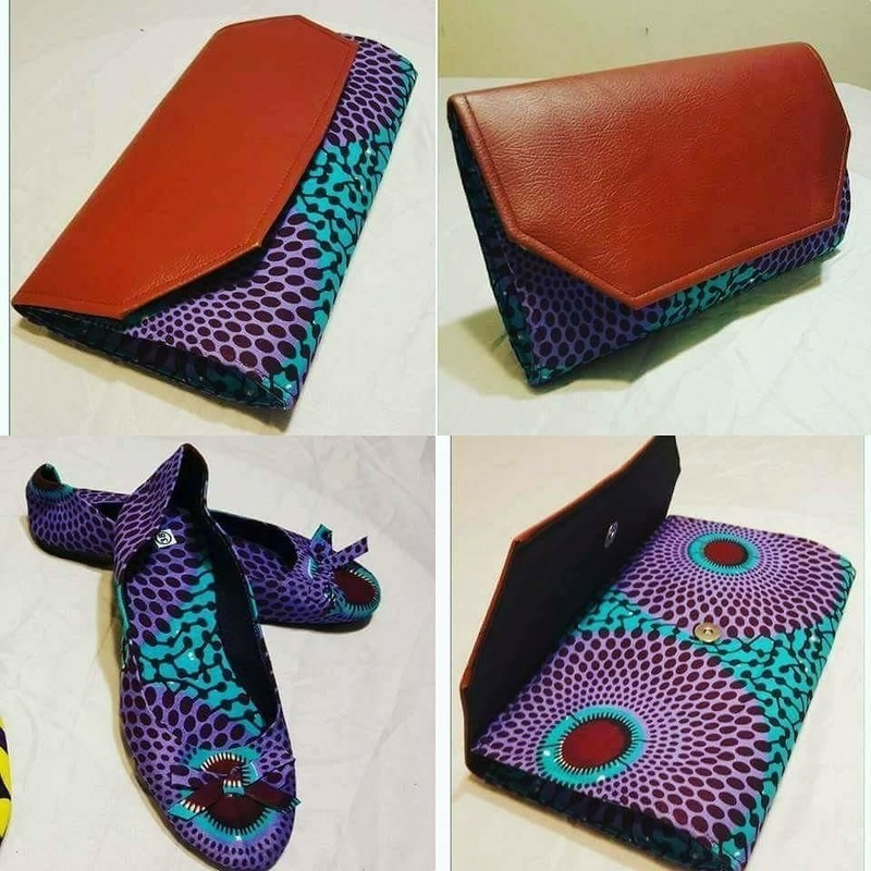 Ankara Small Purse with Shoes - Purses multicolour, ankara