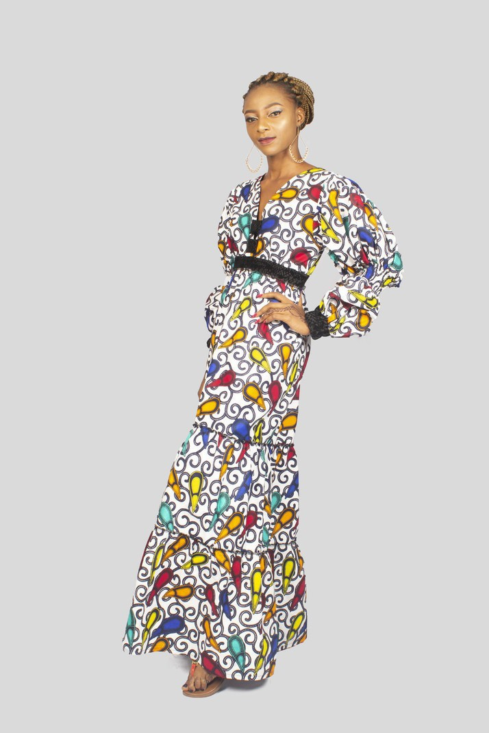 Ankara Maxi Dress, African Print Dress, African Dress, African Clothing for  Women - Long dresses maxi dresses, multicolour, plus size and curves, ...