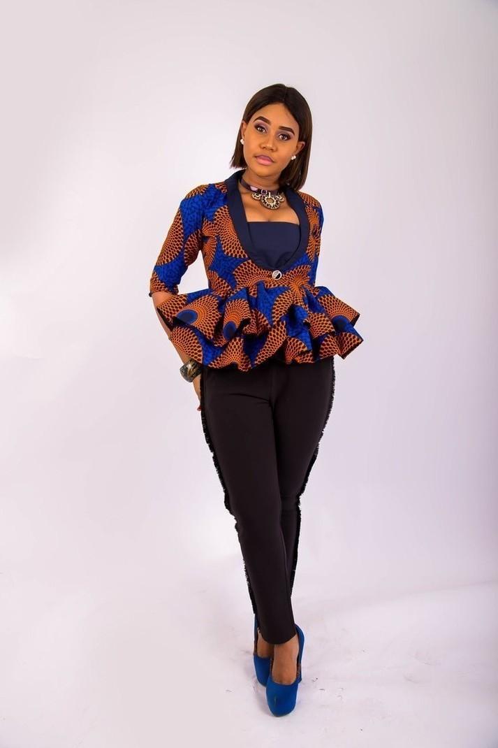 veste duchess ankara veste femme robes v tements boutique africain afrikrea. Black Bedroom Furniture Sets. Home Design Ideas