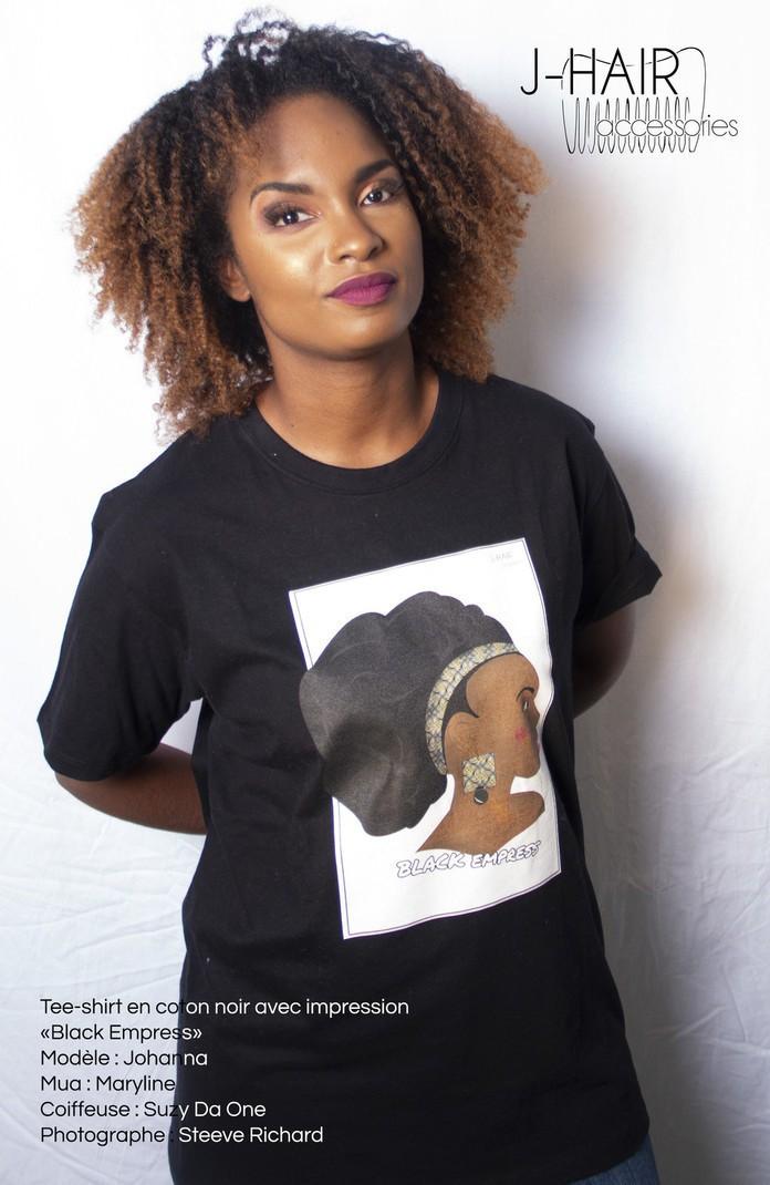Tee-shirt noir Black Empress par j-hair-accessories - T-shirts femme ... ed20df0acb6