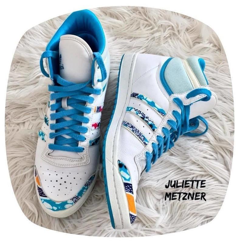 d4fa38a35f41 Custom Adidas vintage high top sneakers in Wax by juliette-metzner ...