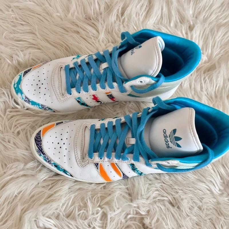Montantes Wax Vintage Adidas En Par Customisées Baskets Juliette D9H2IEW