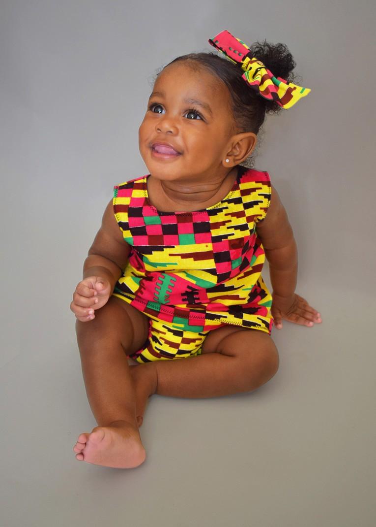 African Print Baby Bloomer Set African Print Baby Girl
