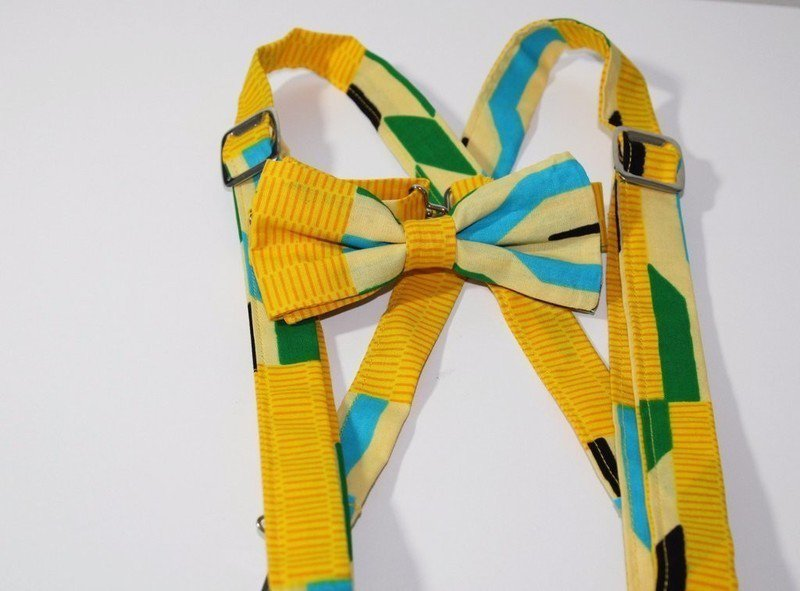 ec0bad7f5042 African print kids bow tie suspender set by fairyma - Bow tie - Afrikrea