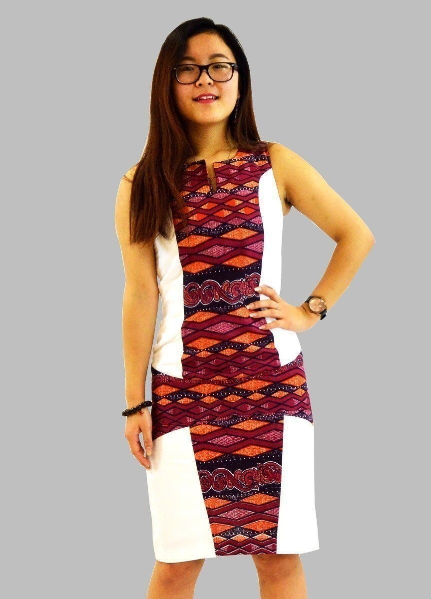 belle de robe soirée en lin et en tissu pagne par kabangondo - Robes M - Afrikrea