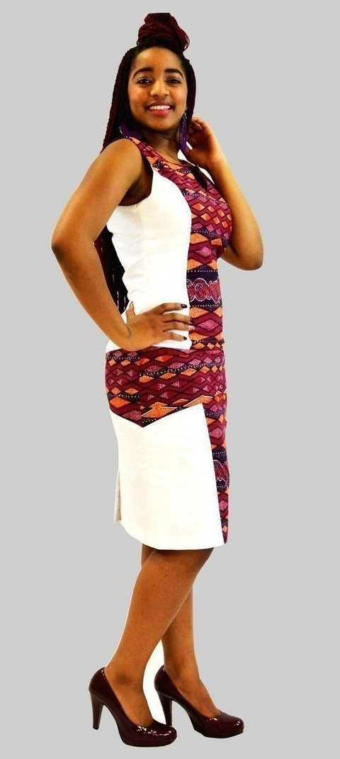 belle de robe soirée en lin et en tissu pagne par kabangondo - Robes ... c2c54602dc3f