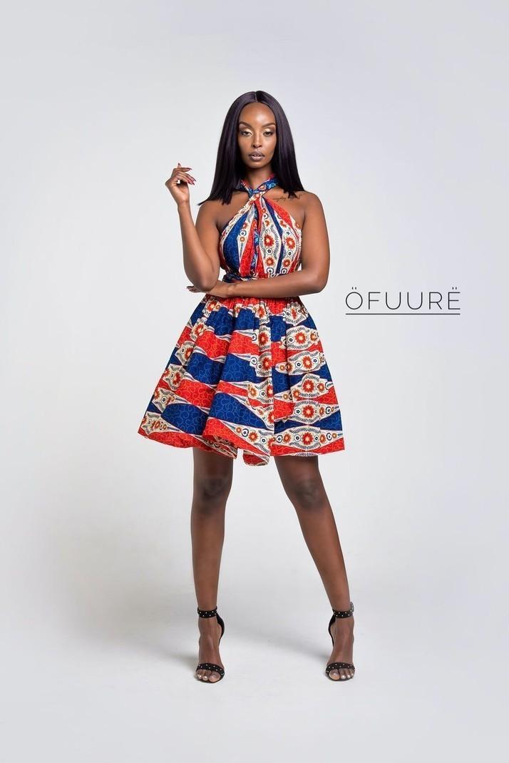TEMI MINI ROBE INFINITY par ofuure - Robes courtes - Afrikrea 94e405d33ff