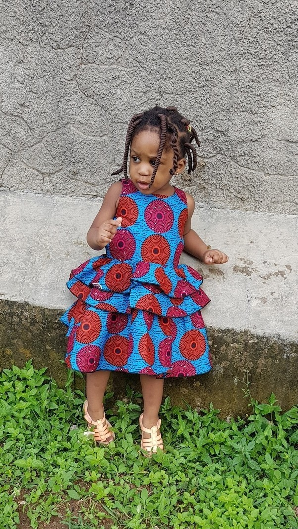 38825606610b5 Baby girl ankara dress, toddler girl african print chistmas dress by ...