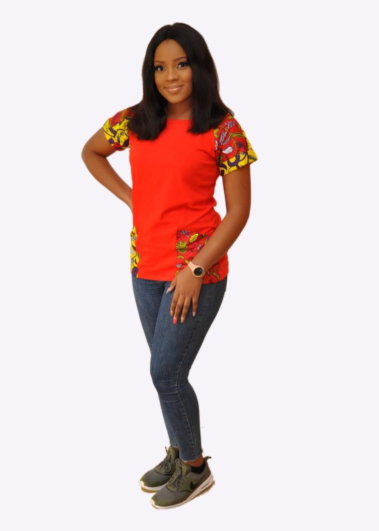f2ac36fe92e Women Ankara Raglan T-Shirt by mmabontshirts - Women T-shirts - Afrikrea