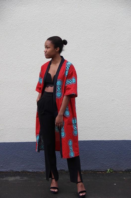 d22f7efeb Bee wax kimono - Kimonos red, tall, with an ankara touch, ankara/wax, for  her, cotton, the beautiful days