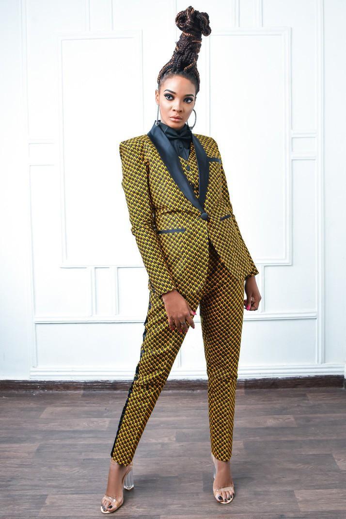 Tamie ElleLes WaxPour Costume Tailleurs Intégral Et Taille Beaux De MarronTallGrande Costumes Smoking Femme FormesLook SMpUzV