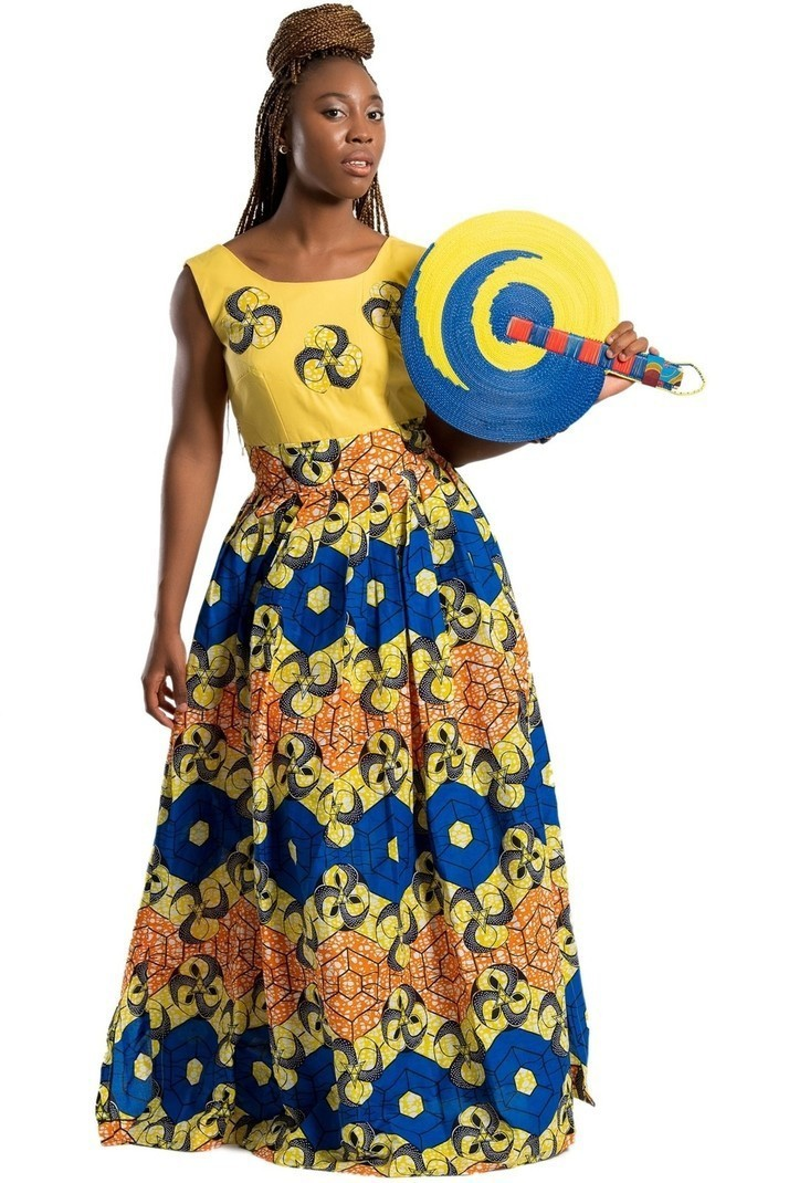 Nontle African print Maxi Dress - Long dresses maxi dresses, yellow, plus  size and curves, tall, with an ankara touch, ankara/wax, for her, ankara,  ...
