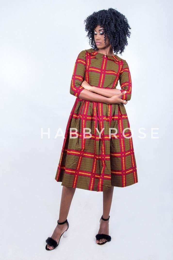 4aff1ebfa4ffc5 Robe midi africaine Titi, robe de soirée africaine, robe Maxi, robe ...