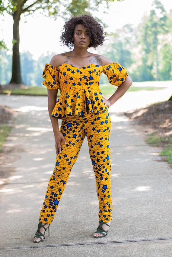 Iyu African Print Ankara Jumpsuit By Mnastitches Jumpsuits Amp