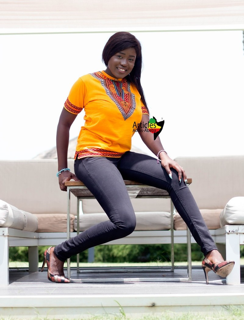 T-shirt Addis-Abeba Orange par articles-addis-abeba - T-shirts femme ... c51e7aef45a
