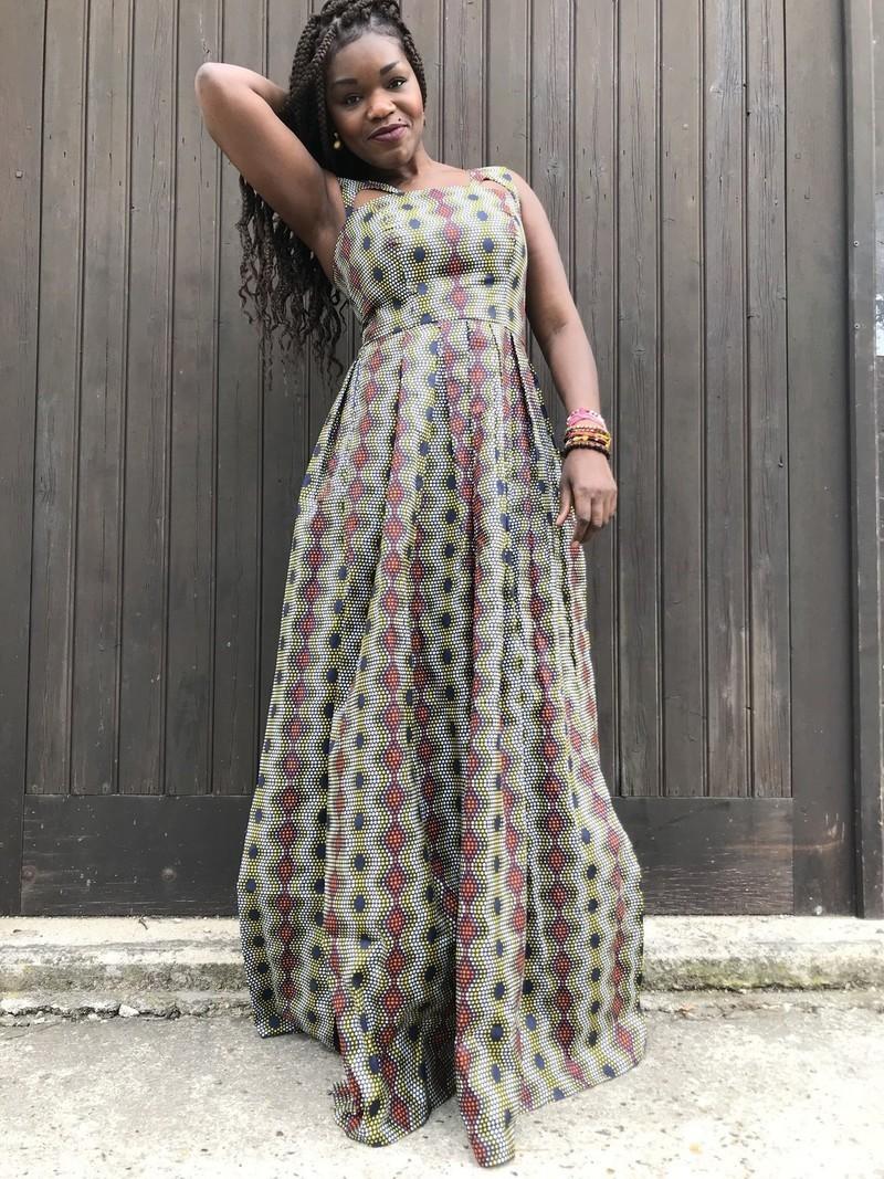 Robe longue AMBRE par noeud-de-princesse - Robes longues - Afrikrea 52f3e261811