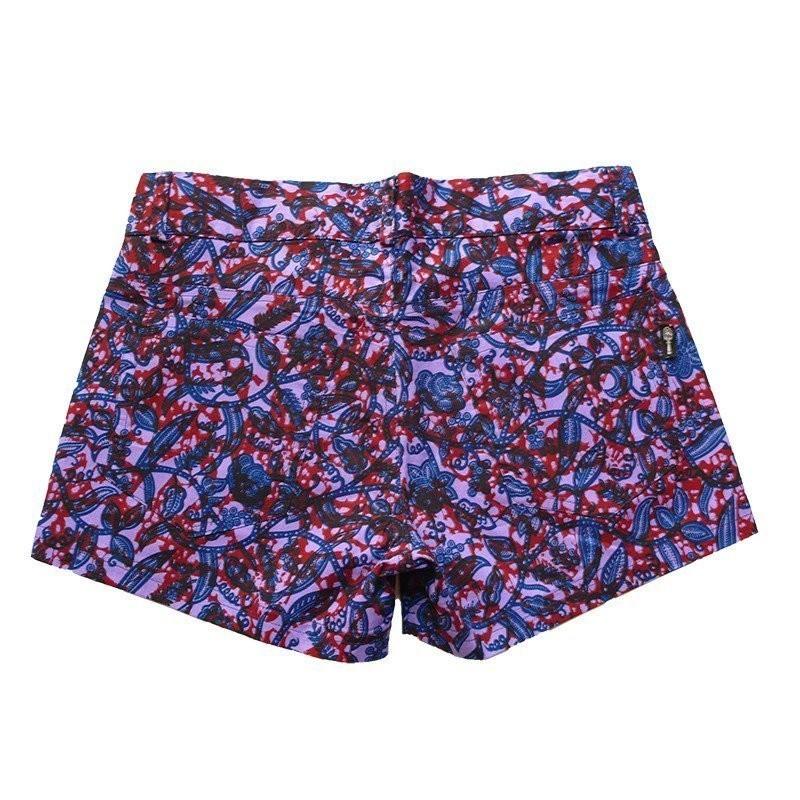 short en wax short femme forme jeans short d 39 t short ethnique en w afrikrea. Black Bedroom Furniture Sets. Home Design Ideas