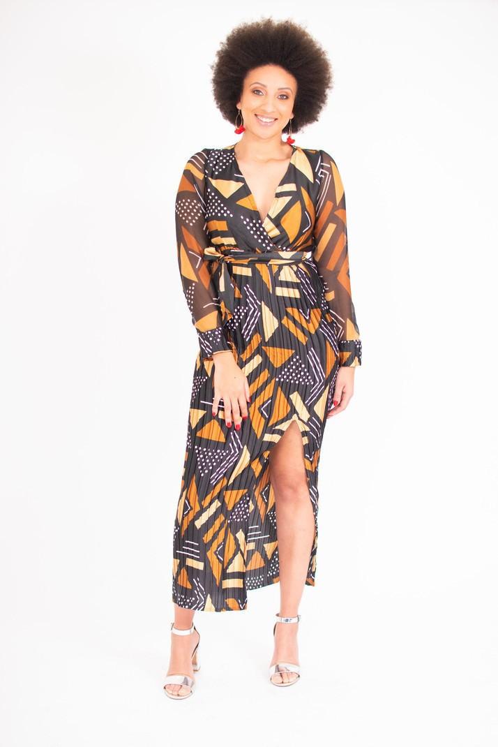 Robe longue bogolan plissé par ade-wear - Robes longues - Afrikrea 96e7ae2c9cf
