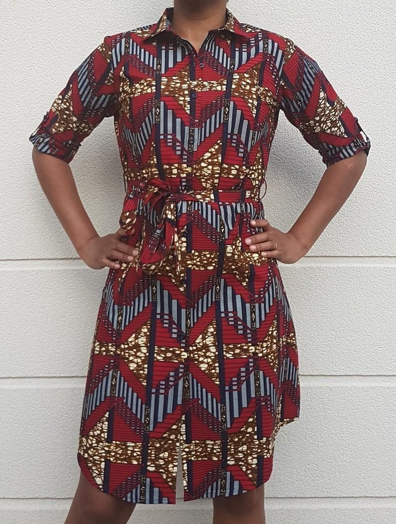 506e7c4119be38 KITENGE shirt dress by wax-faro - Short dresses - Afrikrea