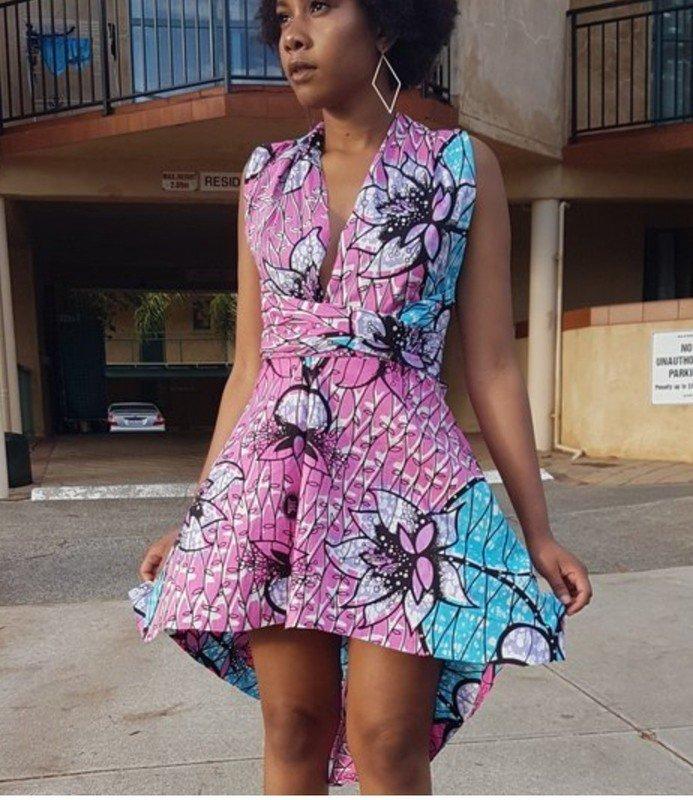5ba563d6f01 African infinity print dress by kudarachel - Short dresses - Afrikrea