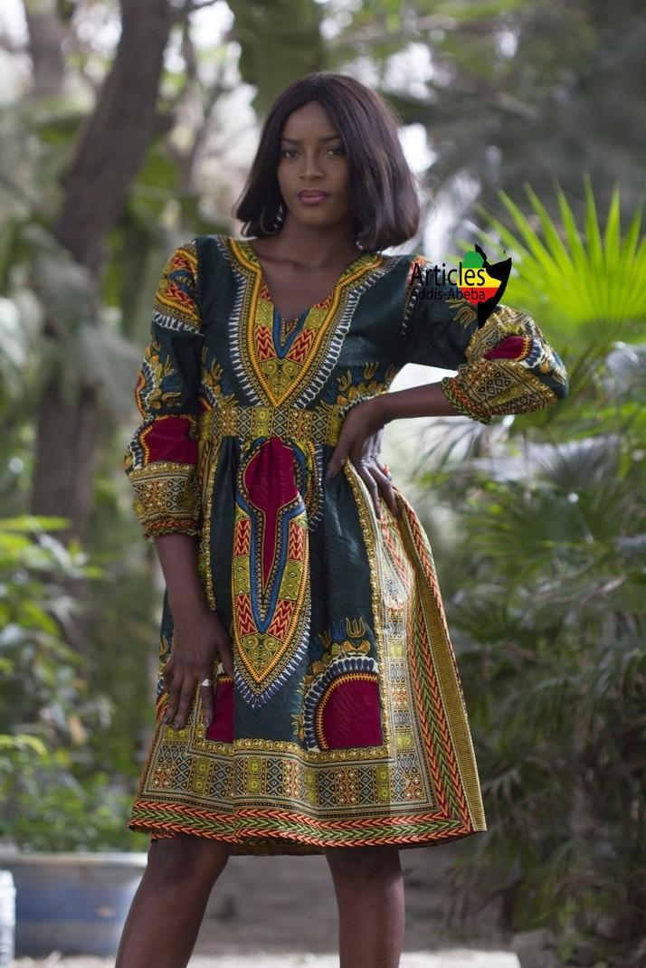 Robe Black Panthère Addis-Abeba Verte par articles-addis-abeba ... 544dba1bfc97