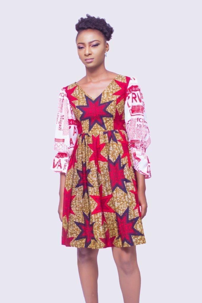 84c3f3fa285 Robe en mousseline de soie imprimée africaine