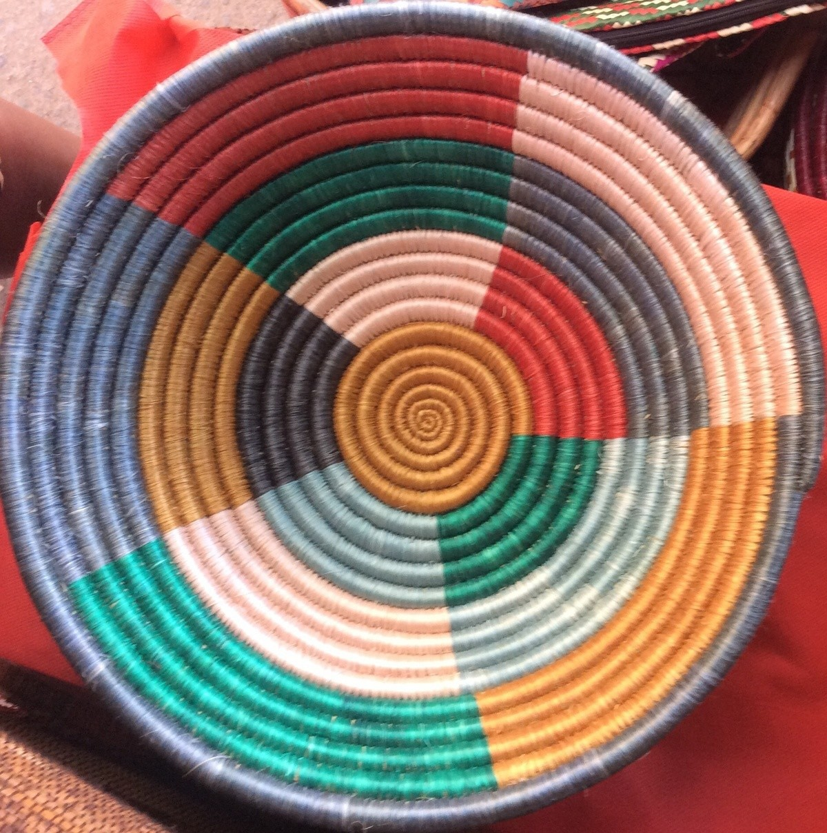 Tenture Africaine Grande Taille petit panier du rwanda, panier africain suspendu, corbeilles de fruits