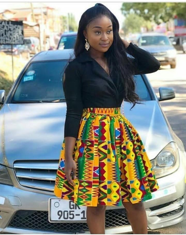 1e5e252b3d Kente African midi skirt, Ankara skirt, African skirt by poshglamz ...
