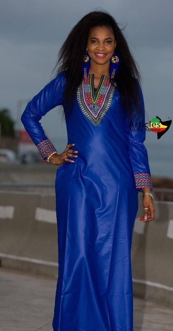 Longue robe bleue Abeba-Abeba par articles-addis-abeba - Robes ... 68976c2ecec5