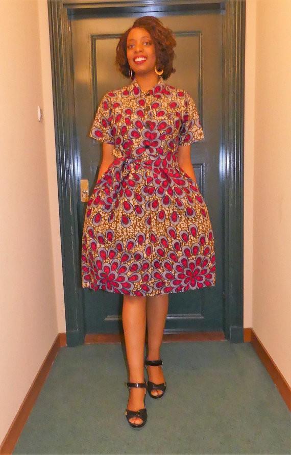 robe courte en wax pagne africain par pagnshopea robes courtes afrikrea. Black Bedroom Furniture Sets. Home Design Ideas