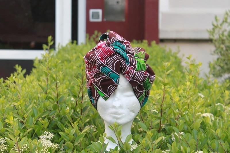 Pre-woven turban Suzana in Wax  amp  Satin- Pre-woven scarf in wax ... a9a85aa9f8b2
